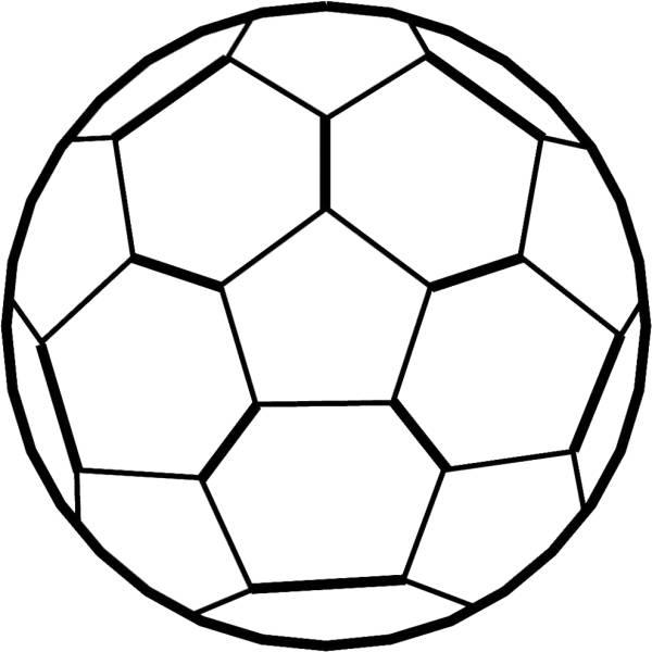 Disegno di pallone da calcio da colorare per bambini - Pagina da colorare di un pallone da calcio ...