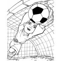 Disegno di Portiere di Calcio da colorare