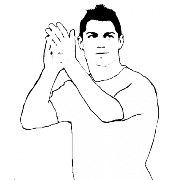 soccer coloring pages ronaldo hair - photo#13