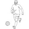 disegno di Rooney da colorare