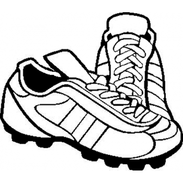 Disegno di scarpette da calcio da colorare per bambini for Disegni sport da colorare
