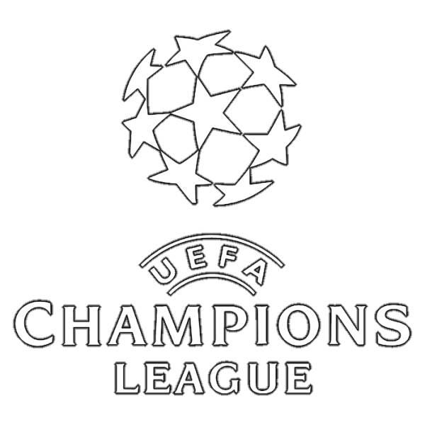 Disegno di Scritta Uefa Champions League da colorare