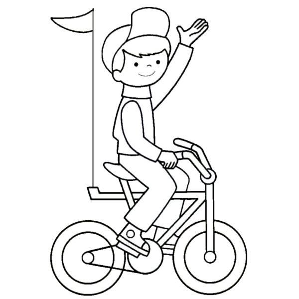 Disegno Di Giro In Bici Da Colorare Per Bambini