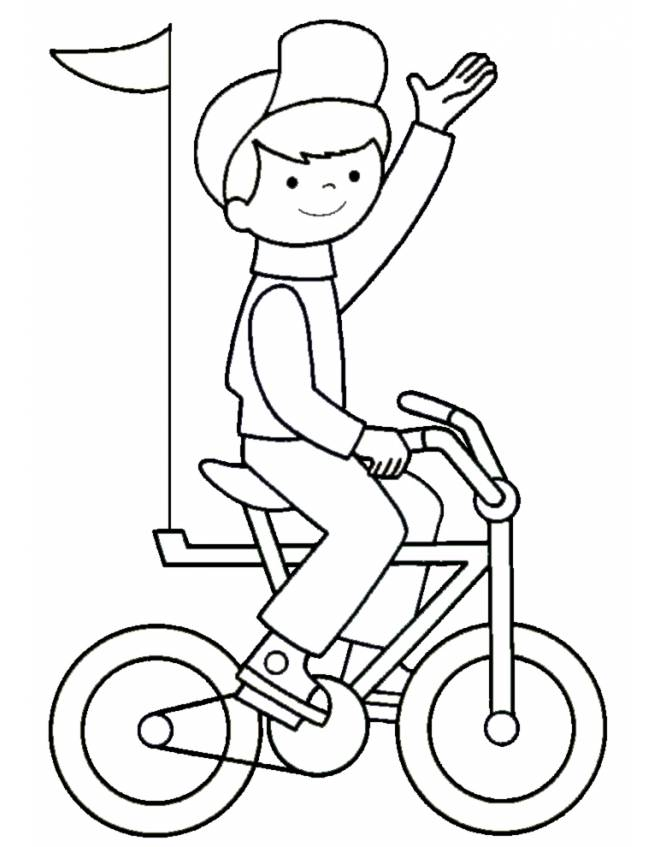Bicicletta Disegno Da Colorare.Disegno Di Giro In Bici Da Colorare Per Bambini