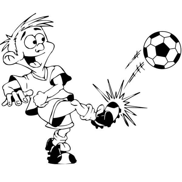 Disegno di il calciatore da colorare per bambini for Disegni sport da colorare