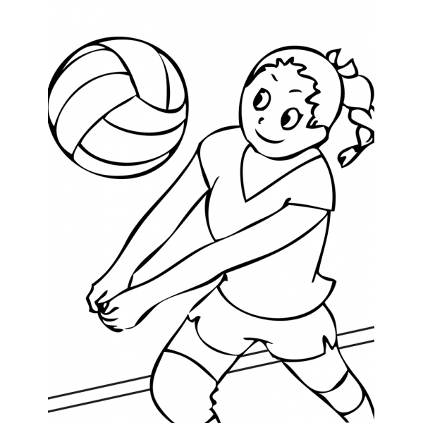 Disegno di la ragazza della pallavolo da colorare per for Disegni sport da colorare