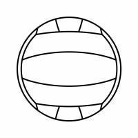 Disegno di Pallone da Pallavolo da colorare