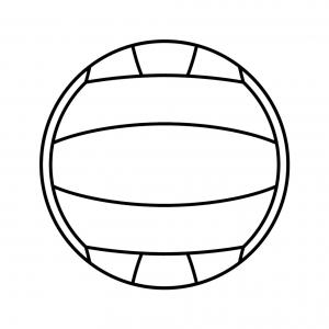 Disegno di pallone da pallavolo da colorare per bambini for Disegni calciatori da colorare per bambini