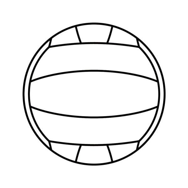 Disegno Di Pallone Da Pallavolo Da Colorare Per Bambini