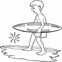 disegno di Surf e Mare da colorare