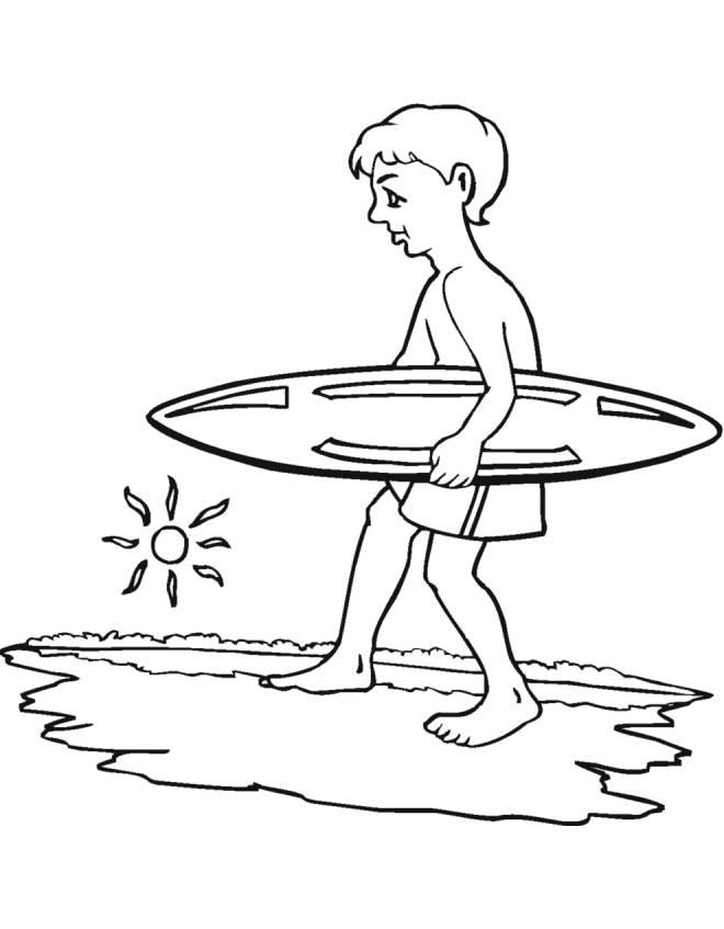 Disegno Di Surf E Mare Da Colorare Per Bambini Disegnidacolorareonline Com