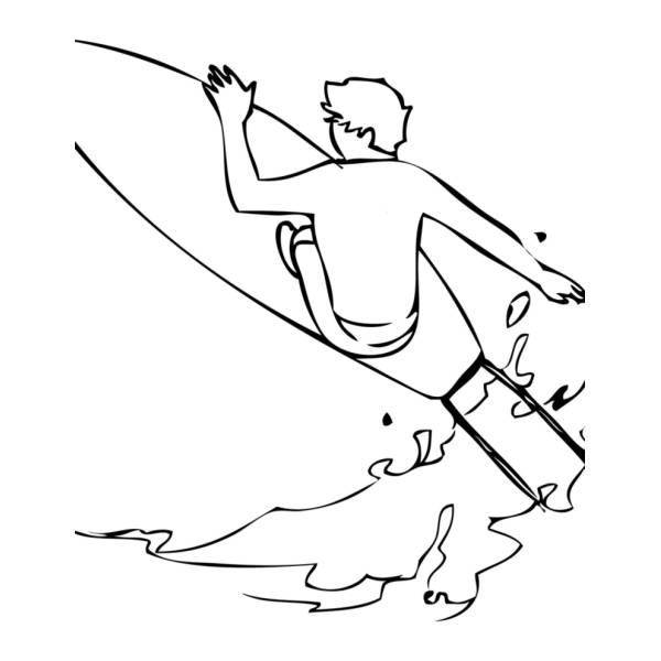 Disegno Di Surfing Da Colorare Per Bambini