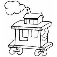 Disegno di Trenino da colorare