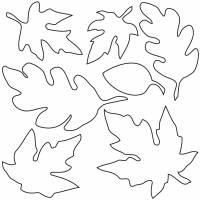 disegno di Foglie da colorare