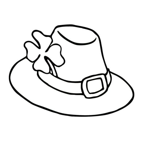 Disegno di Cappellino con Fiore da colorare