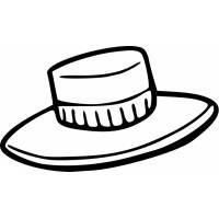 Disegno di Cappello da colorare