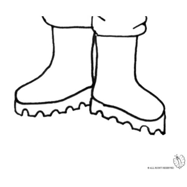 stivali da pioggia disegno