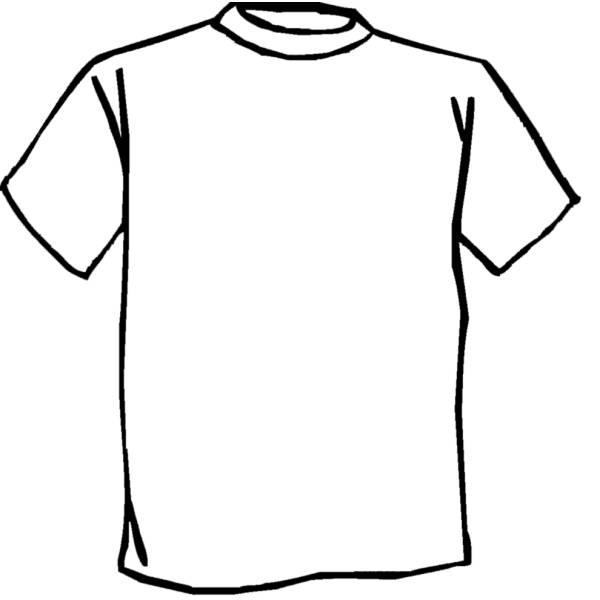 Disegno di Maglietta da colorare