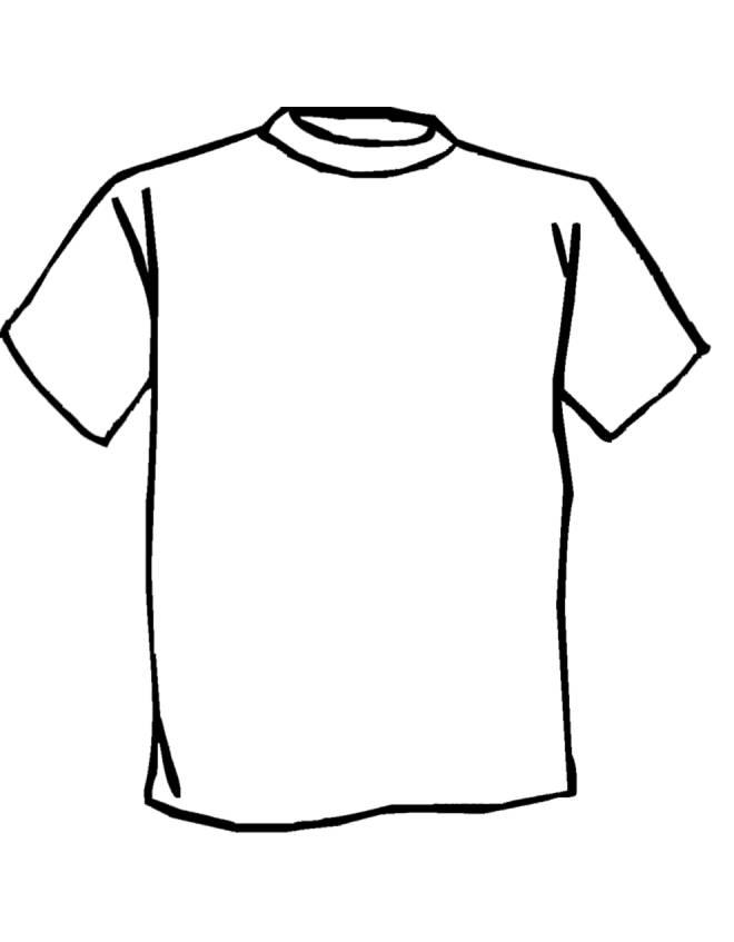 Favoloso Disegno di Maglietta da colorare per bambini  CP78