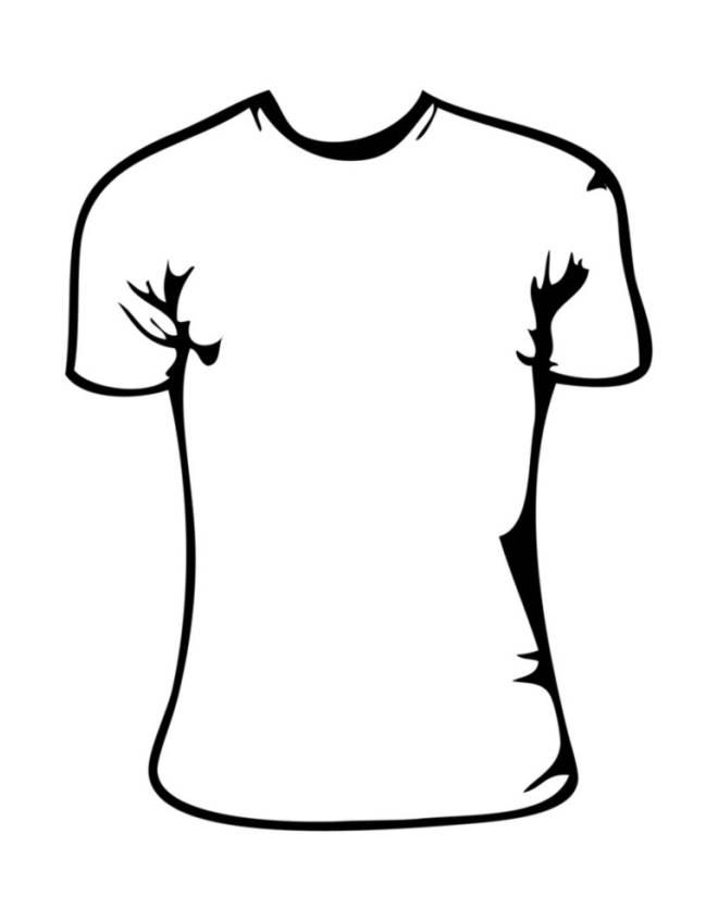 Disegno di maglietta bambina da colorare per bambini for Disegno bambina da colorare