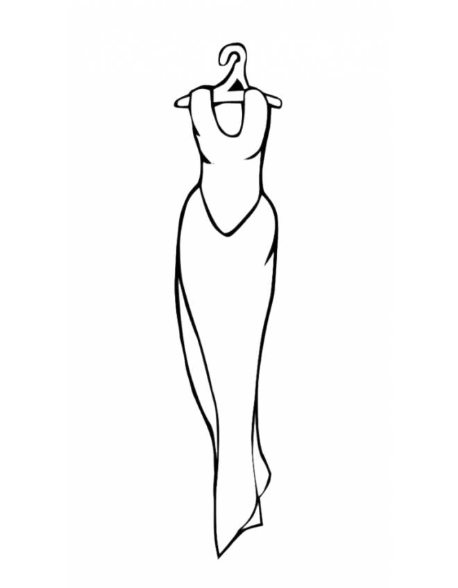disegno di Vestito da Sera da colorare