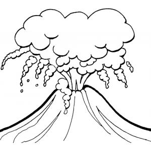 Disegno di Vulcano in Eruzione da colorare