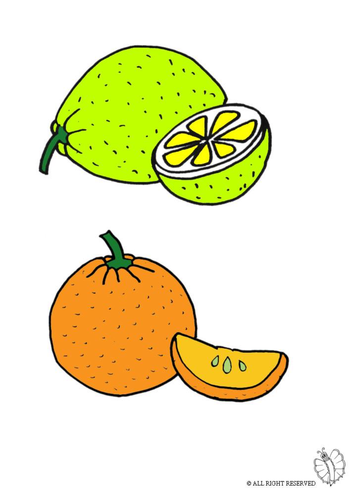 disegno di Agrumi a colori
