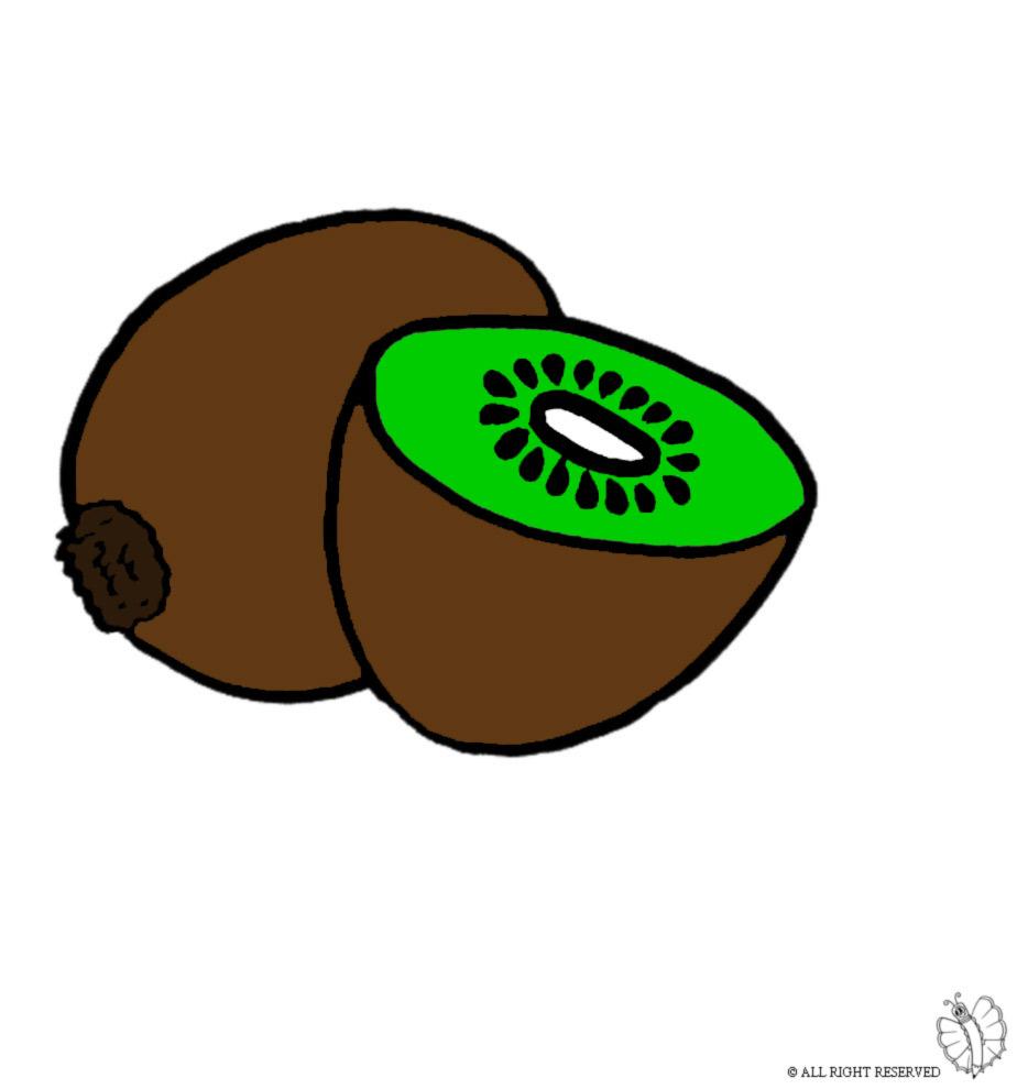 disegno di Kiwi a colori