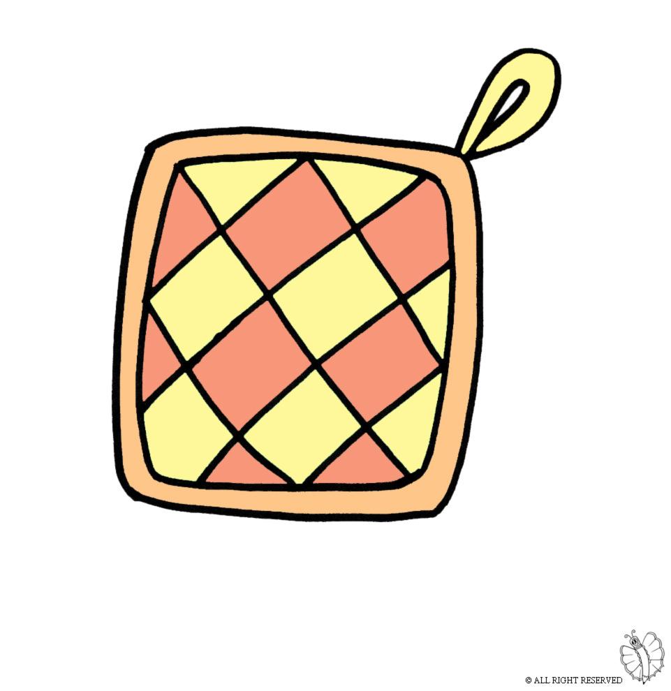 Stampa disegno di presina per cucina a colori - Disegni per cucina ...