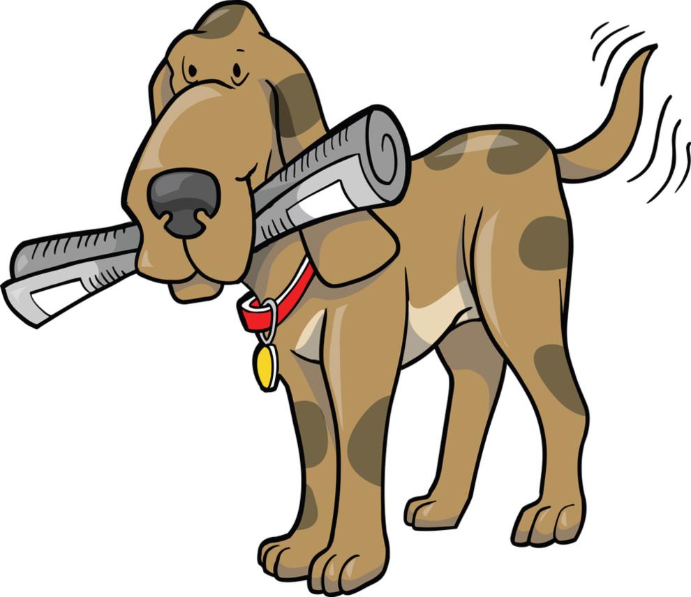 stampa disegno di il cane col giornale a colori dog clip art coloring page Friends Clip Art to Color