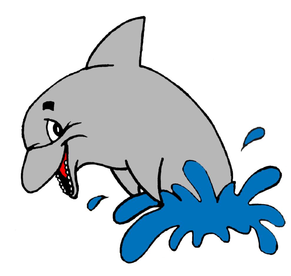 Stampa disegno di delfino a colori for Delfino disegno da colorare