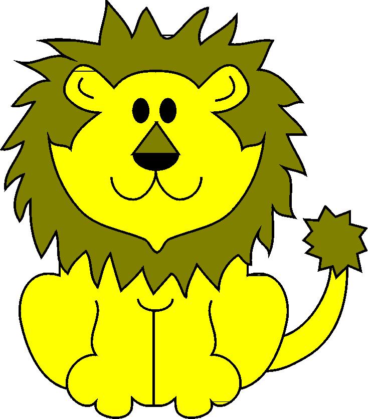 Stampa disegno di il leone a colori for Fattoria immagini da colorare
