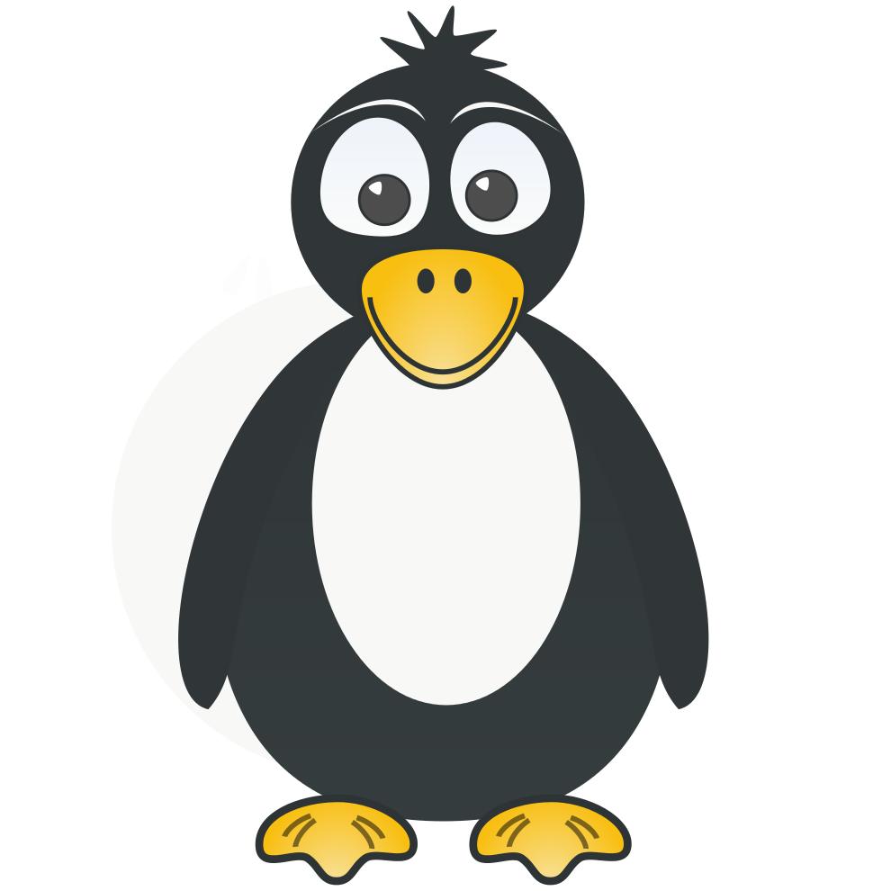 Stampa disegno di pingu a colori for Disegno pinguino colorato