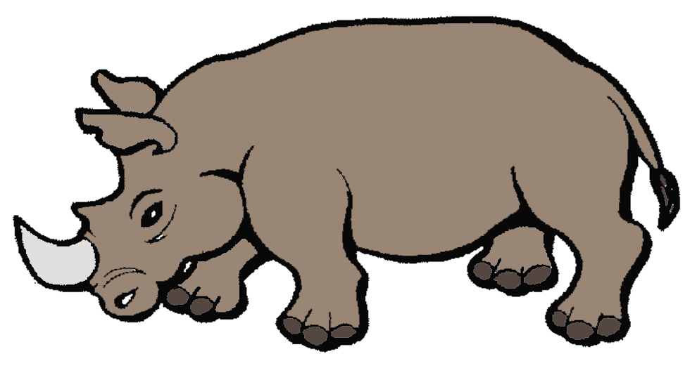 Stampa disegno di rinoceronte a colori - Immagini di marmellata di animali a colori ...