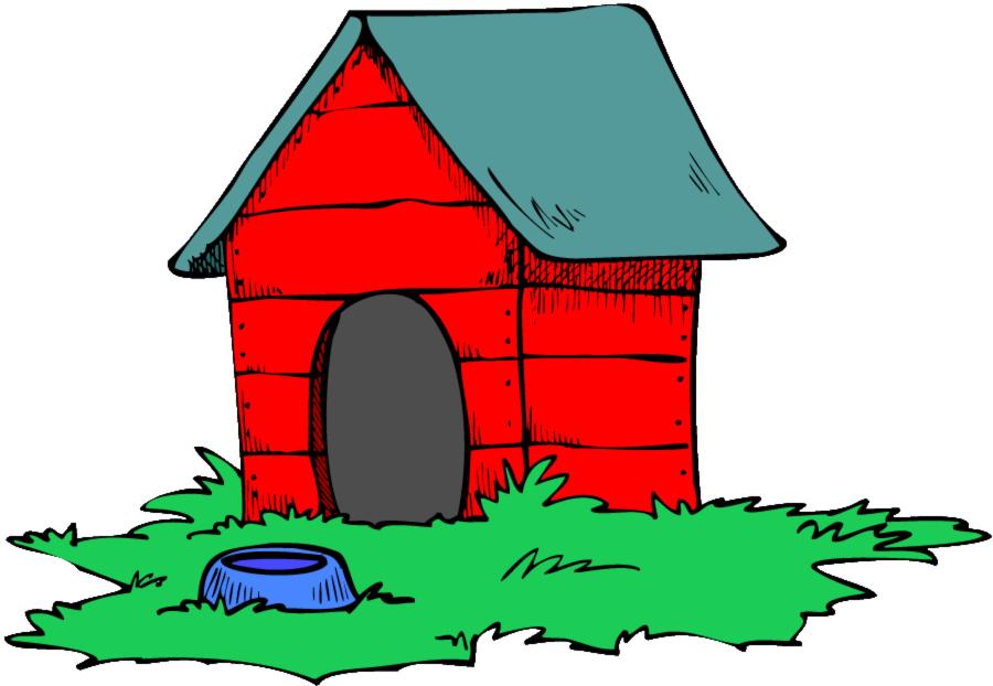 Stampa disegno di casa del cane a colori for Disegni e prezzi della casa