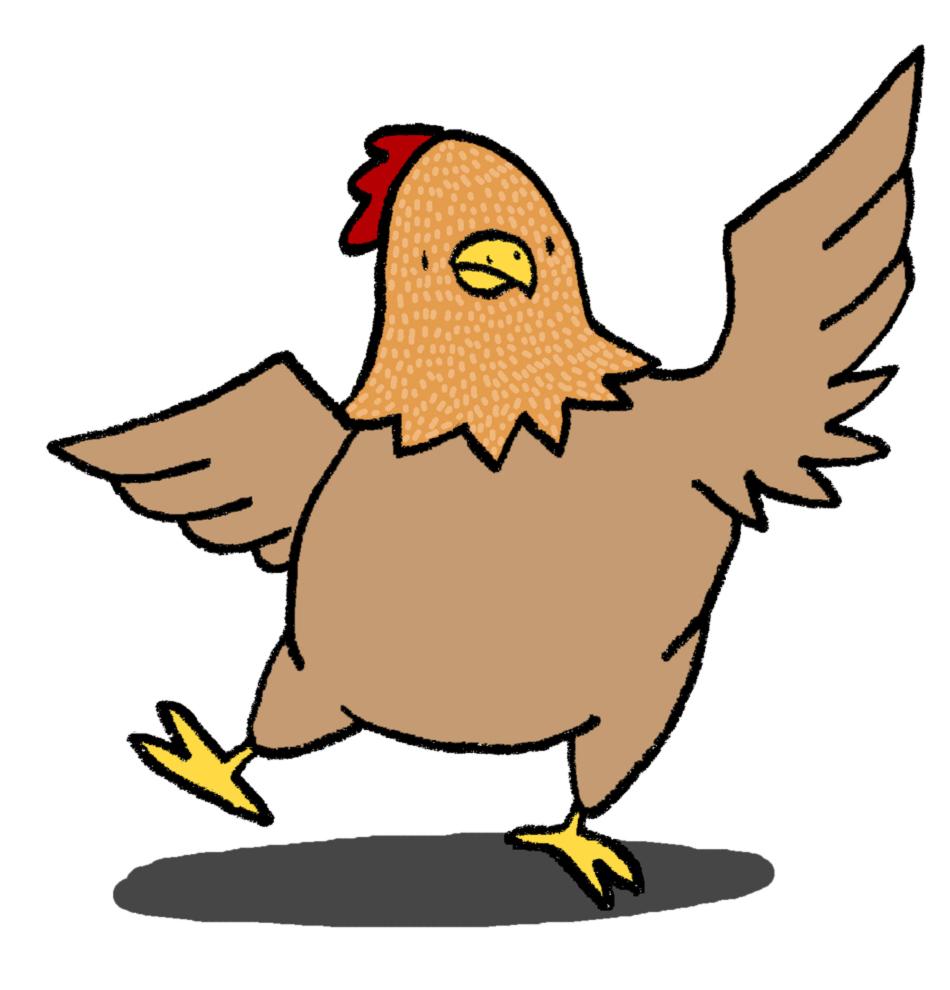 Stampa disegno di gallina ballerina a colori - Immagini di marmellata di animali a colori ...