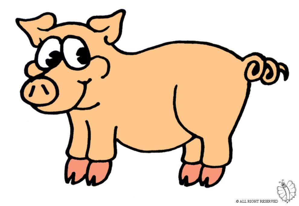 Stampa disegno di maialino a colori - Immagini di marmellata di animali a colori ...