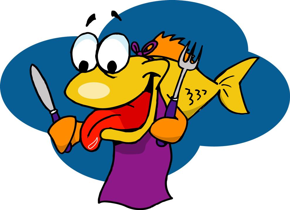 disegno di Pesce Affamato a colori