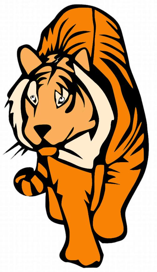 Stampa disegno di tigre a colori for Immagini tigre da colorare