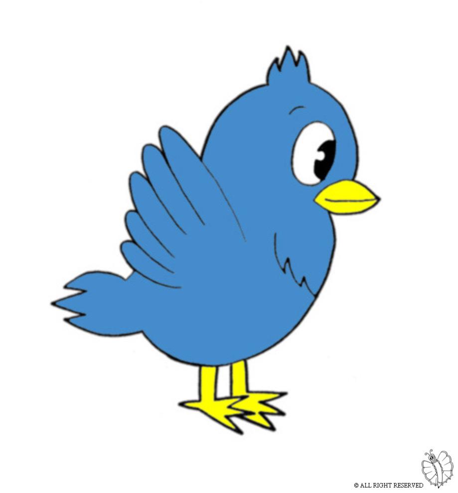 Stampa disegno di uccello a colori for Uccellino disegno