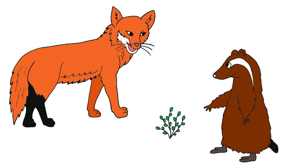 Stampa disegno di la volpe e il suricata a colori - Immagini di marmellata di animali a colori ...