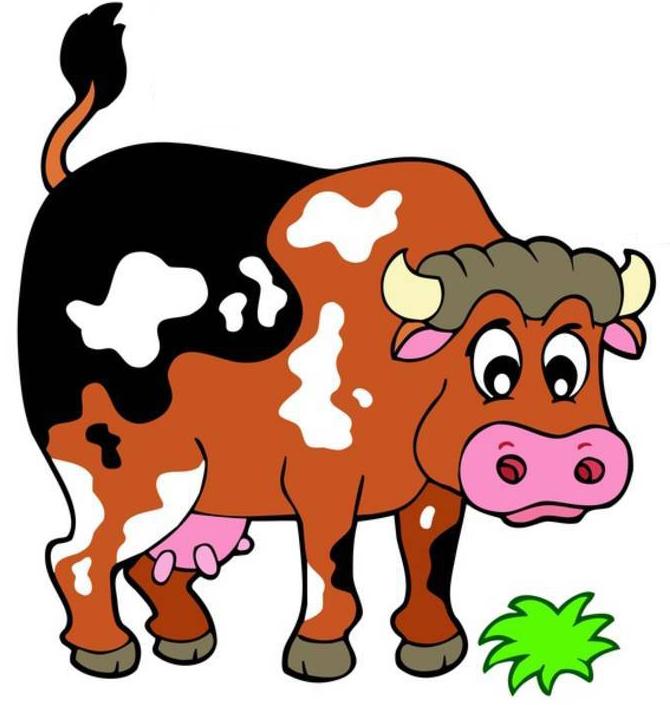Stampa disegno di la mucca della fattoria a colori for Disegno della fattoria americana