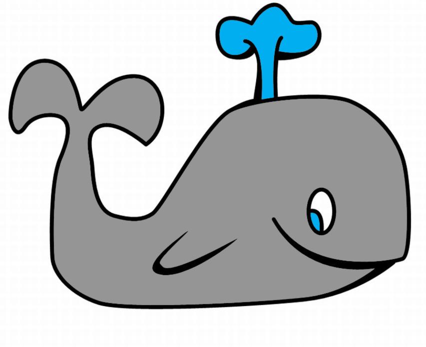Stampa disegno di la piccola balena a colori - Balene pagine da colorare ...