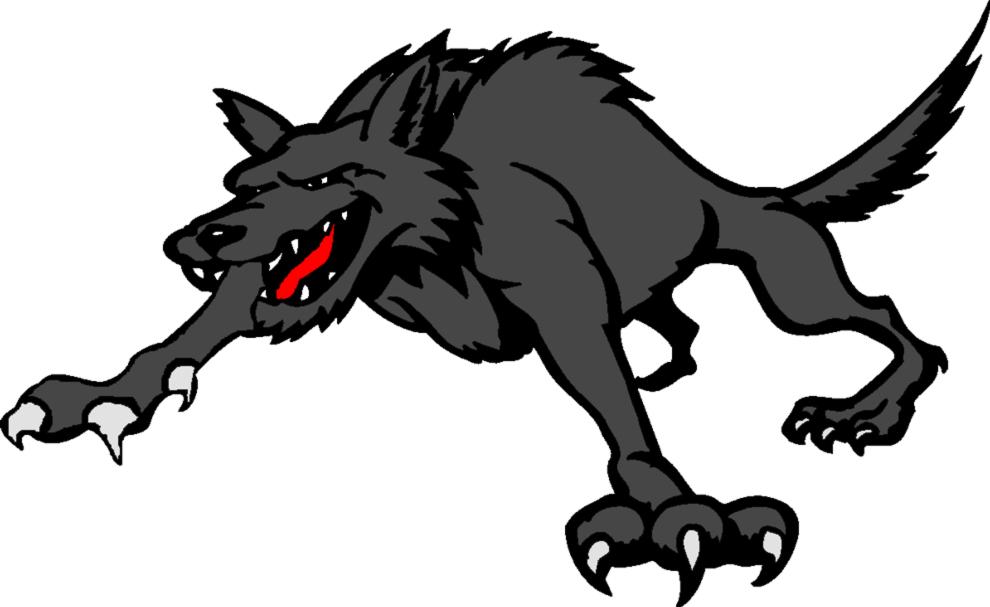Stampa disegno di lupo mannaro a colori
