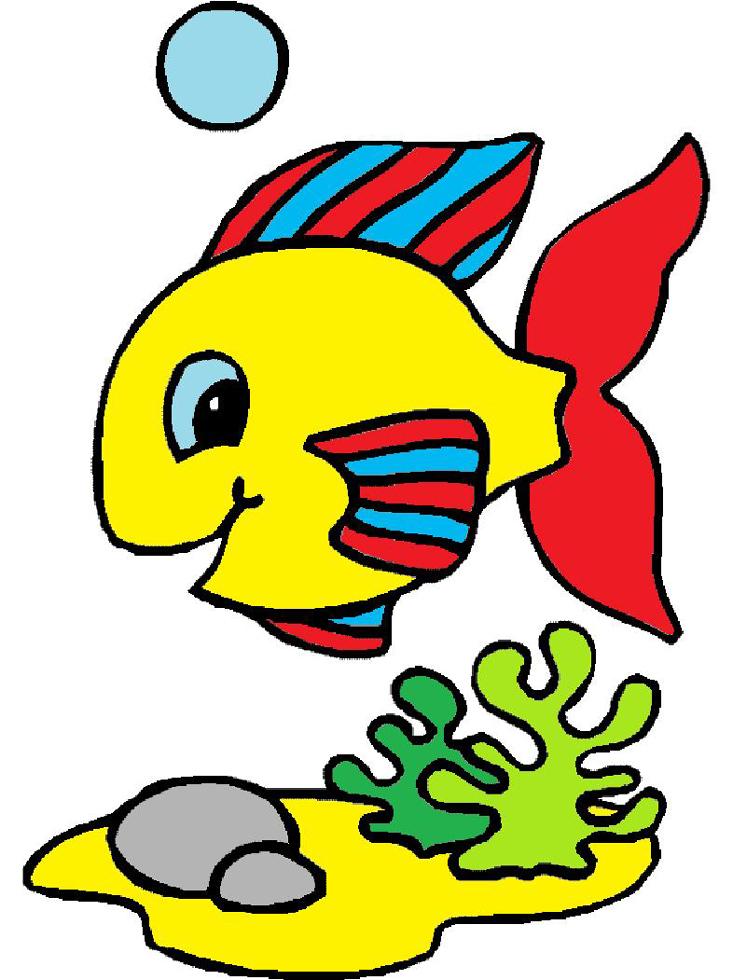 Stampa disegno di pesciolino a colori for Pesciolini da colorare e stampare