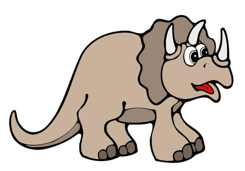 Stampa disegno di piccolo triceratopo a colori - Immagini di marmellata di animali a colori ...
