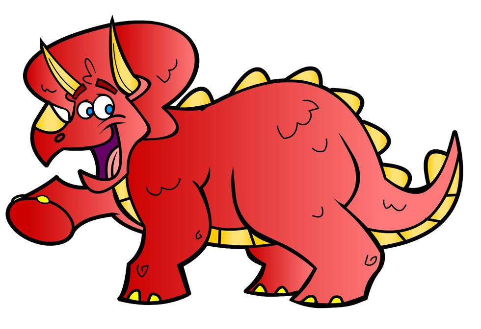 disegno di Dinosauro Triceratops a colori