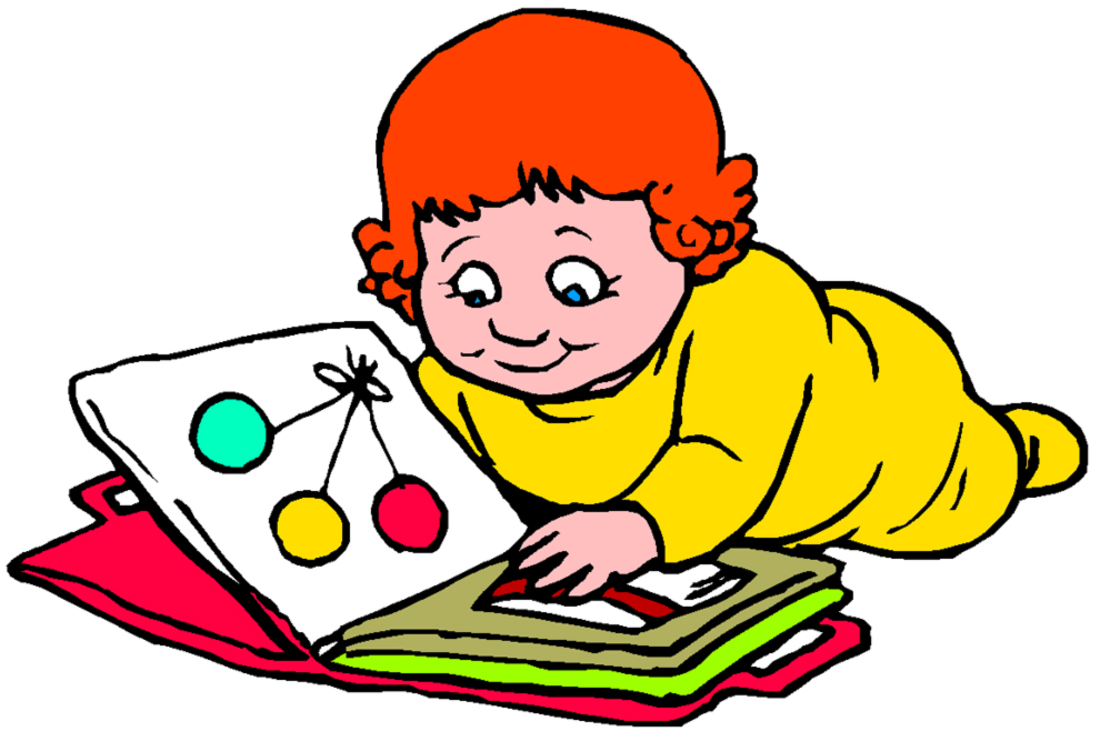 disegno di Bambina con Album di Disegni a colori