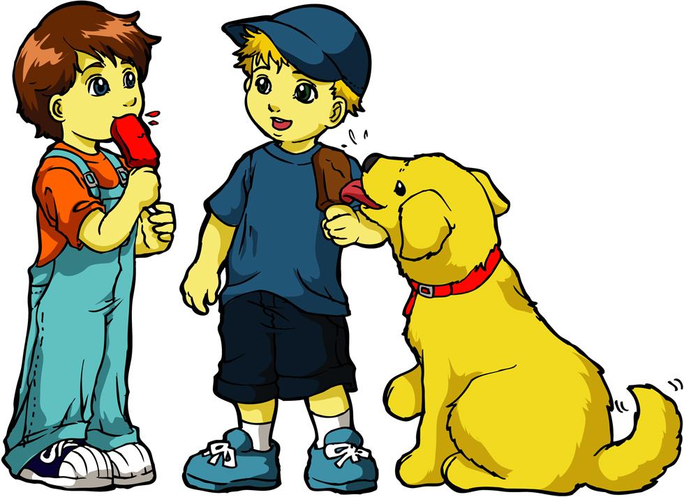 Stampa disegno di bimbi col gelato a colori for Disegno cane per bambini