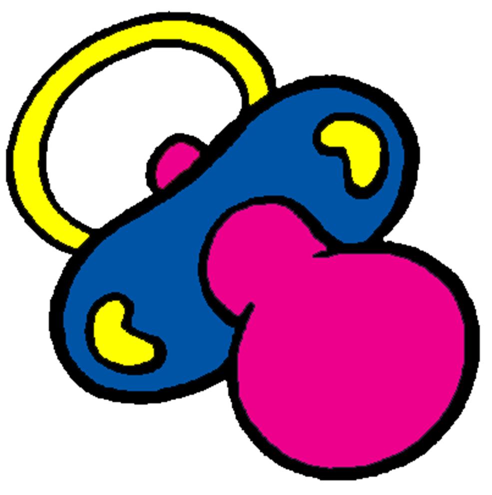 Stampa disegno di ciucciotto a colori for Neonati da colorare e stampare